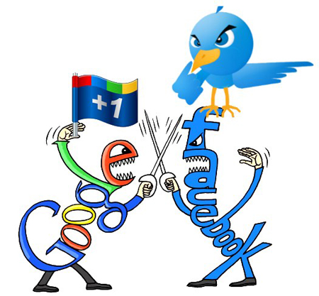 facebook google plus twitter versus 10 Differences among Google+, Facebook, and Twitter