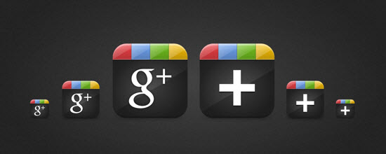 google plus icon 3 10 Amazing Google Plus (+) Icon Sets   Free Downloads