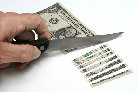 Knife and money