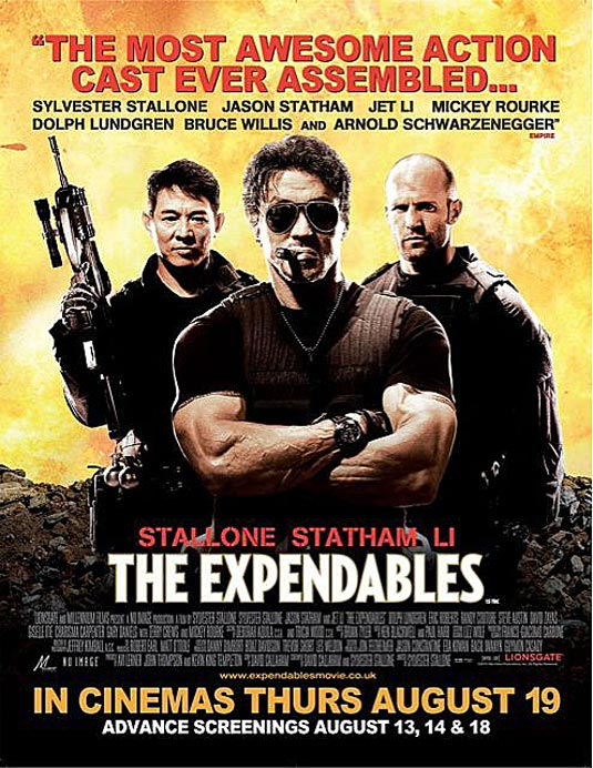 TheExpendables poster Top 10 Best Jason Statham Movies