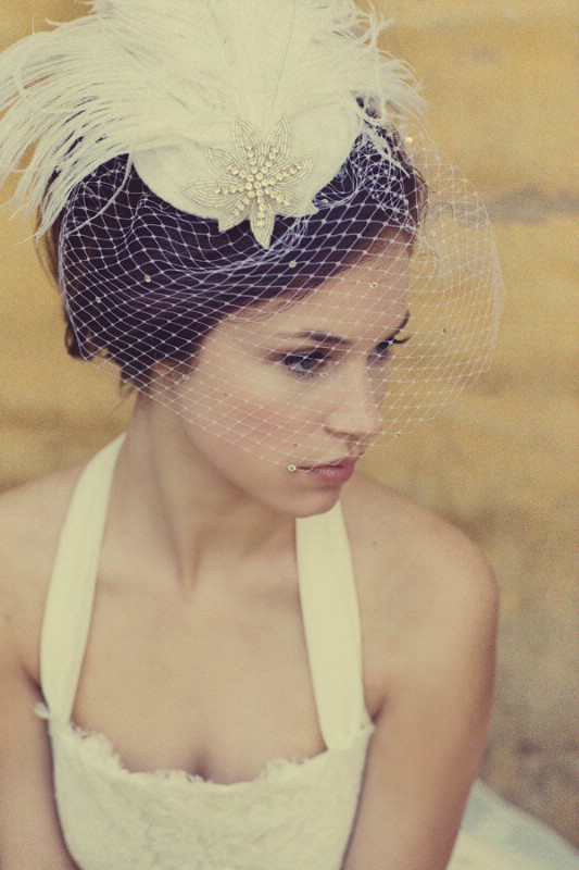 Vintage Birdcage Top 10 Best Wedding Hairstyles For Brides