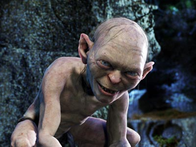 gollum 10 Most Popular CGI Characters