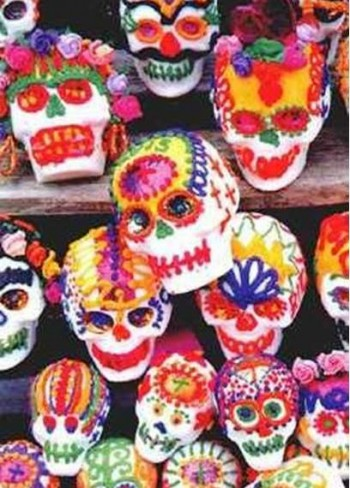 4. Cascade of Skulls e1316206695381 10 Most Creative Sugar Skull Recipes for the Day of the Dead
