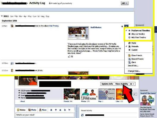 Tip 3 To Show or Not to Show 10 Things That You Can Do To Your Profile With Facebook Timeline