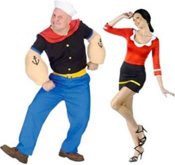 1. Popeye and Olive Oil e1318605208444 Top 10 Best Couples Halloween Costumes For 2011