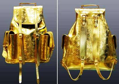 10. Gold Backpack 10 Most Expensive Things That Should Not Be Expensive At All