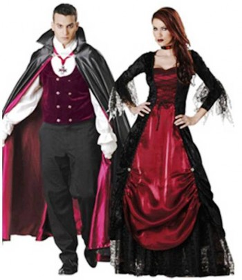 2. Vampire and Vampira e1318605162411 Top 10 Best Couples Halloween Costumes For 2011