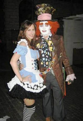 4. Mad Hatter and Alice in Wonderland e1318605078681 Top 10 Best Couples Halloween Costumes For 2011