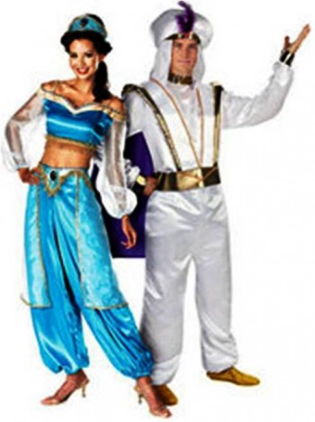 6. Jasmine and Aladin e1318604995511 Top 10 Best Couples Halloween Costumes For 2011