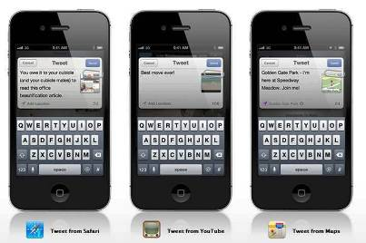 6. Twitter Integration 10 New Features Introduced in Apple iOS 5