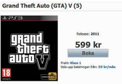 9. GTAV is found on Pre order in an Online Swedish Retail Store Top 10 GTA V Rumors