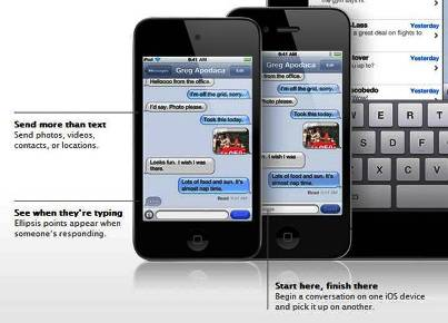 9. iMessage 10 New Features Introduced in Apple iOS 5