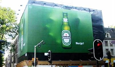 1. Heineken 10 Most Impressive Billboard Advertisements