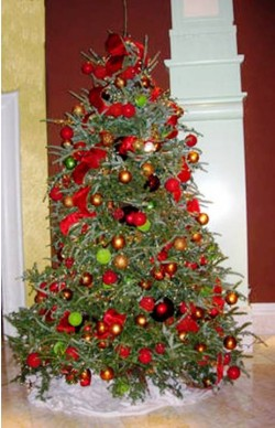 1. Traditional Christmas tree e1321001902976 Top 10 Christmas Tree Deorating Ideas