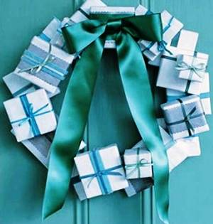 1. Wrapped Present Wreath Top 10 Best Christmas Wreath Ideas