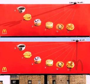 3. McDonald's Sundial Billboard 10 Most Impressive Billboard Advertisements