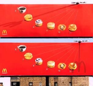 3. McDonald's Sundial Billboard 10 Most Impressive Billboard Advertisements