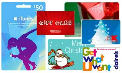 5. Gift Cards Top 10 Best Christmas Gifts for Teens