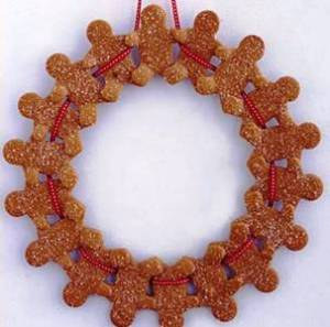 5. Gingerbread Man Wreath Top 10 Best Christmas Wreath Ideas