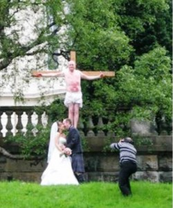 5. Live Crucifixion Simulation of Marriage Vows e1320408836851 Top 10 Weirdest Wedding Venues