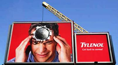 5. Tylenol 10 Most Impressive Billboard Advertisements