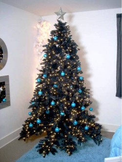 6. Black Christmas tree e1321001449698 Top 10 Christmas Tree Deorating Ideas