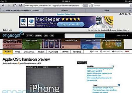 6. Safari 5 Top 10 Best iOS 5 Apps