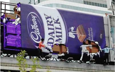 7. Cadburry 10 Most Impressive Billboard Advertisements