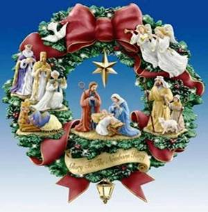 7. Nativity Wreath Top 10 Best Christmas Wreath Ideas