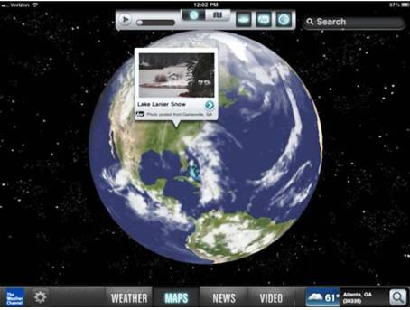 8. The Weather Channel Top 10 Best iOS 5 Apps