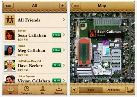 9. Find My Friends Top 10 Best iOS 5 Apps