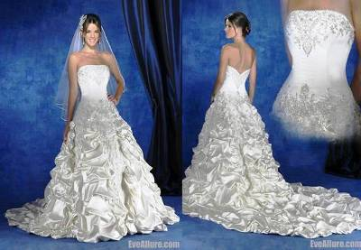 2. Ball Gown Strapless Cathedral Royal Train Taffeta Ruffle Wedding Dress 10 Best Winter Wedding Dresses 2011   2012