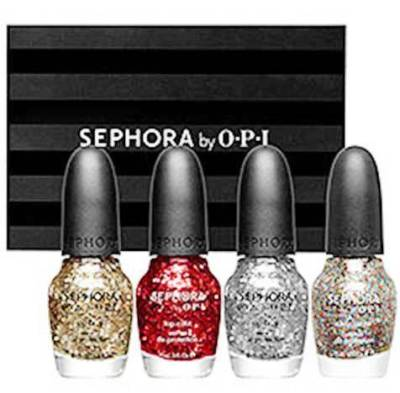 2. Glitter and Sparkle Four Piece Full Size Nail Color Set 10 Stylish Gifts For Women Under $100