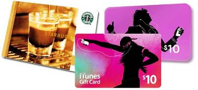 4. Gift Cards 10 Best Gifts under $20