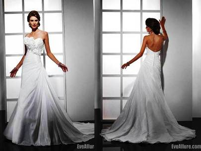5. A line Sweetheart Cathedral Royal Train Taffeta Wedding Dress 10 Best Winter Wedding Dresses 2011   2012