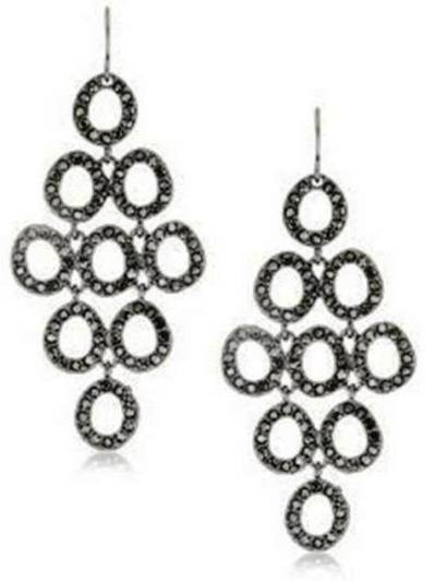 7. Urban Caviar Hematite Pave Circle Chandelier Earrings 10 Stylish Gifts For Women Under $100