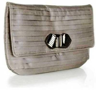 9. Gray Deco Clasp Clutch Bag 10 Stylish Gifts For Women Under $100