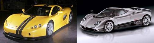 10. Ascari A10 Pagani Zonda F Top 10 Fastest Cars   2012