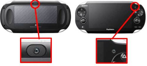 10. Front and Rear Cameras Top 10 New Features in PS Vita   Specs