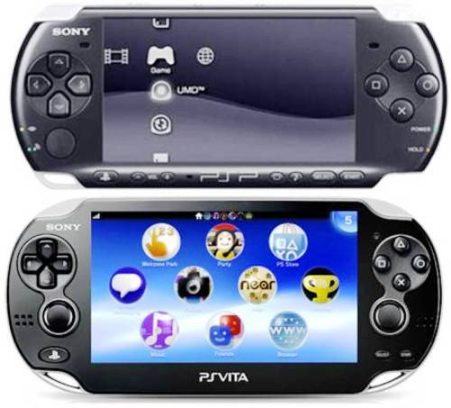 2. Display 10 Differences Between PSP 3000, PSP Go & PS Vita