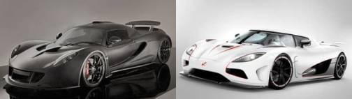 2. Hennessey Venom GT Koenigsegg Agera R Top 10 Fastest Cars   2012