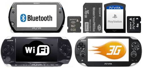 6. Main Input Output 10 Differences Between PSP 3000, PSP Go & PS Vita