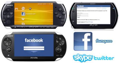 7. Social Networking App Support 10 Differences Between PSP 3000, PSP Go & PS Vita