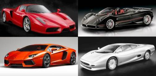 9. Lamborghini Aventador Pagani Zonda Cinque Roadster Ferrari Enzo Jaguar XJ220 Top 10 Fastest Cars   2012