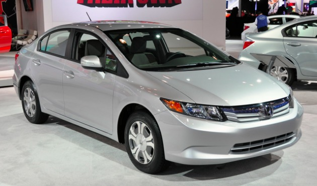 Honda Civic Hybrid 2012 Top 10 Most Fuel Efficient Cars   2012