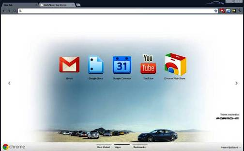 1. Porsche Top 10 Best Google Chrome Themes   2012