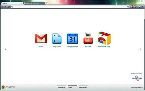 10. Chuck Anderson Top 10 Best Google Chrome Themes   2012