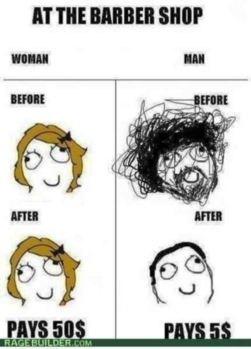 2. Haircut Price Difference 10 Funniest Rage Comics