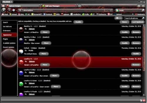 2. LavaFox V1 10 Best Mozilla Firefox Themes   2012