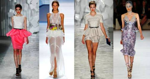3. Peplums Top 10 New York Fashion Week Spring 2012 Trends 
